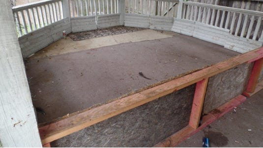 The ring outside an Abbeville home allegedly used to fight roosters, often to the death.