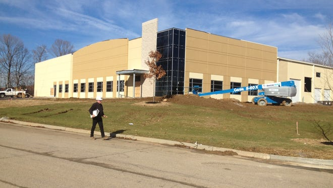 Two workers were injured Dec. 26, 2014 in a construction accident at the Sterling Cut Glass headquarters being developed in Erlanger.