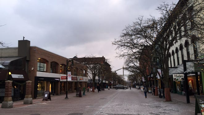 Church Street Marketplace in Burlington is nearly barren Wednesday afternoon as wind chills around 15 below zero freeze the area.