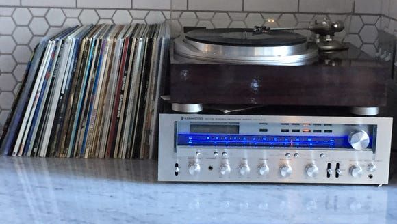 The record player is not just for show.