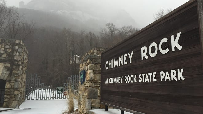 Chimney Rock State Park is closed Thursday and Friday.