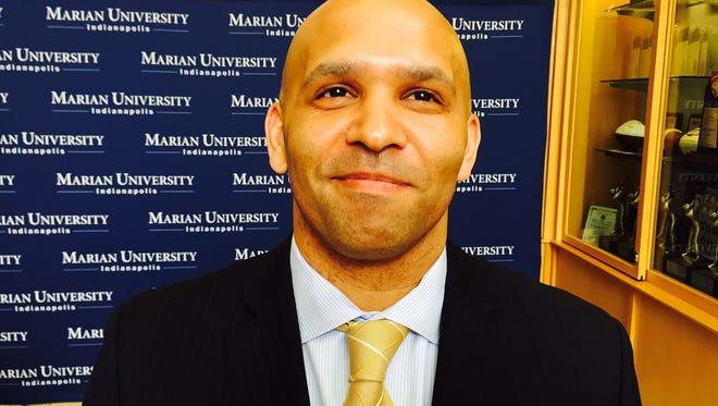 Carson Harris, new Marian basketball coach.