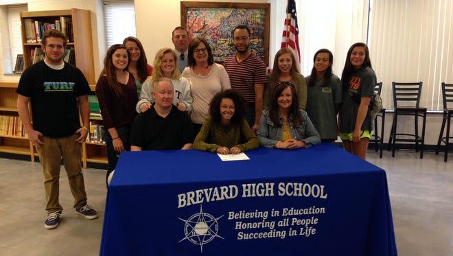Brevard senior Brittany-Nicole Nicholson has signed to play college volleyball for Randolph (Va.).