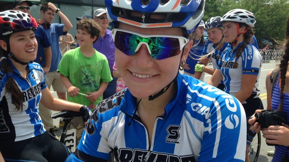 Janelle Cole, of Brevard College, won the USA Cycling Collegiate Road national championships in Criterium Saturday in Asheville.