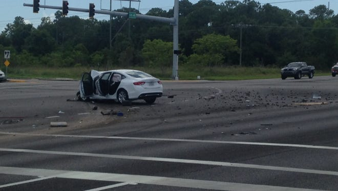 The northbound lanes of US 41 were shut down by a crash at Del Prado Blvd in North Fort Myers Thursday, June 18,