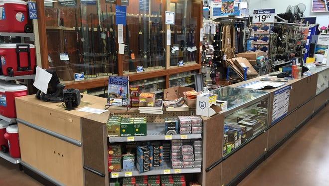 Inside the Walmart in Geneseo, where Earl Hills was arrested.