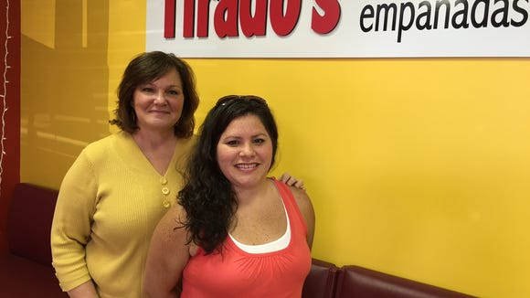 Mother and daughter duo, Trish and Jenn Tirado have garnered a devoted following with their traditional an non-traditional Puerto Rican empanadas.