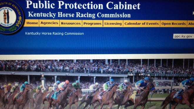 The Kentucky Horse Racing Commission's website home page