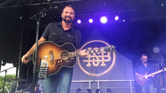 Hunter Smith, former punter for the Indianapolis Colts performed his album release concert Friday.