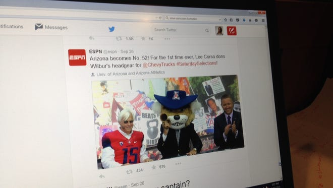 ESPN showed Bob Baffert on College Gameday on the network's Twitter feed @espn.