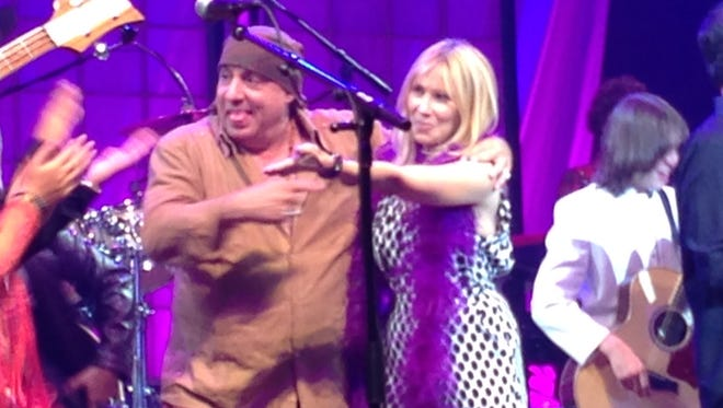Steven and Maureen Van Zandt on stage recently at the Count Basie Theatre in Red Bank.
