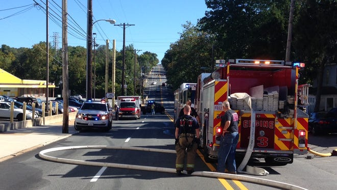 North Market Street, also called Business U.S. 13, was closed for about an hour Tuesday morning as firefighters put out a house fire that left one person injured in the 4400 block of N. Market St., officials said.
