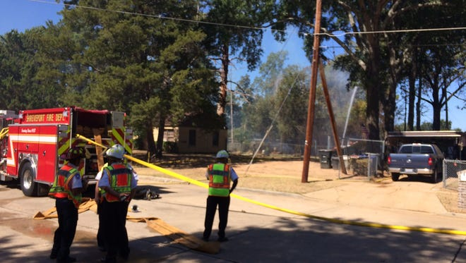 Shreveport Fire Department is on the scene of a fire in the Queensborough neighborhood.