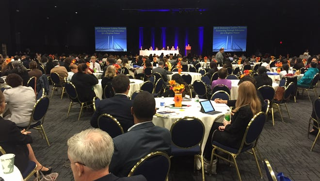 About 500 people gathered at the second-annual Delaware Latino Summit Thursday where the focus was on education for the state's roughly 80,000 Hispanic residents.