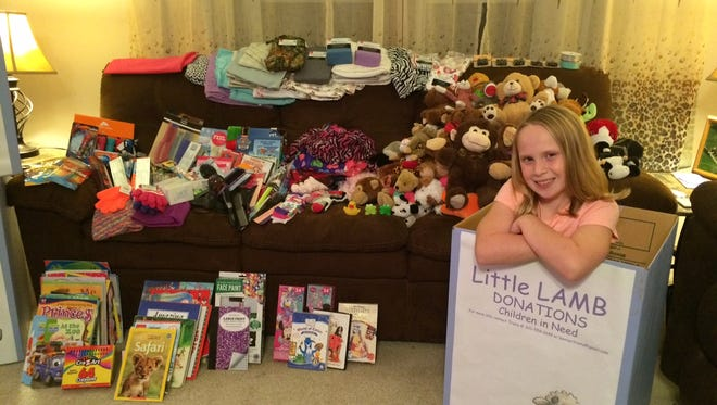 McKenzie Baxter's Little LAMB project has garnered a lot of support from the community.