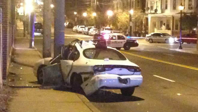 A Sunday night accident in Wilmington put three people in the hospital, according to city police.