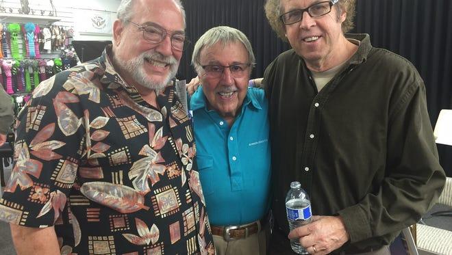 Author Bob Teitelbau, drummer Frank Capp and columnist Bruce Fessier gathered Friday at Pete Carlson's Golf & Tennis