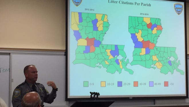 LDWF Sgt. Wayne Parker discusses litter citations as part of workshop
