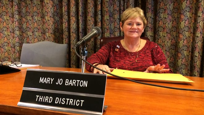 Muncie City Council member Mary Jo Barton attended her last council meeting on Monday evening.