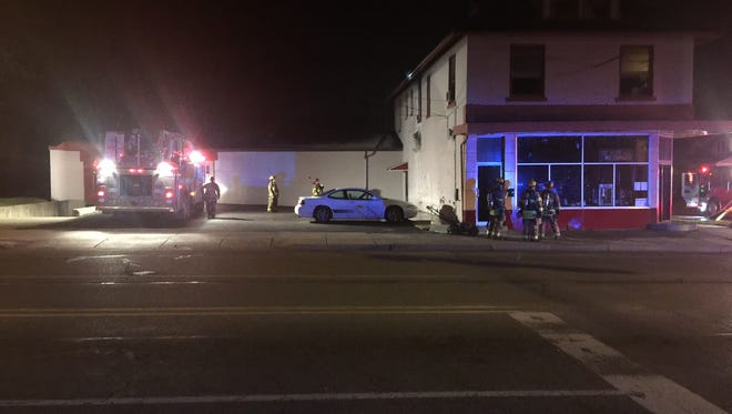 An apartment above the Pop-Ity popcorn store caught fire Saturday night in Lansing.