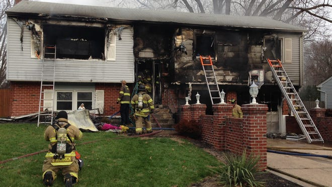 A space heater started a fire in a home near Newark, displacing seven people from their home.