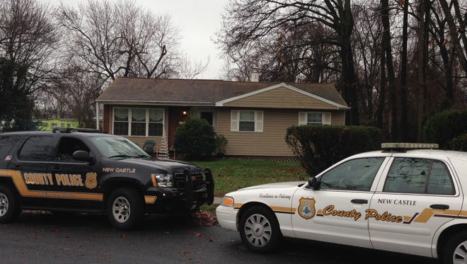 New Castle County police are searching for a man who stabbed his brother in the Oakmont neighborhood near Wilmington Friday.