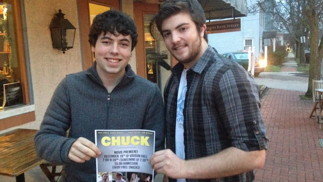 """Dylan Tollefson (left) and Justin Boswick (right) are Shawnee High School seniors, who wrote and produced a short film called """"Chuck"""". Fellow Shawnee student Austin Wheeler also produced the film."""