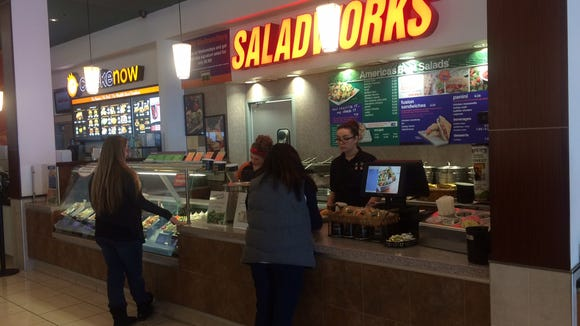This is the current location for Saladworks in the Cherry Hill Mall. The original Saladworks, in the first food court, was the first restaurant in the entire national chain.
