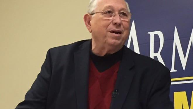Mayoral candidate Dr. Ray Armstrong unveiled an economic development plan Thursday.