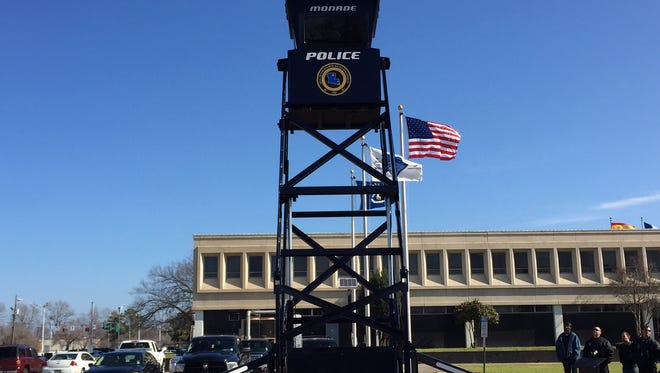 Monroe Police unveiled Sky Tower 1 Wednesday morning .