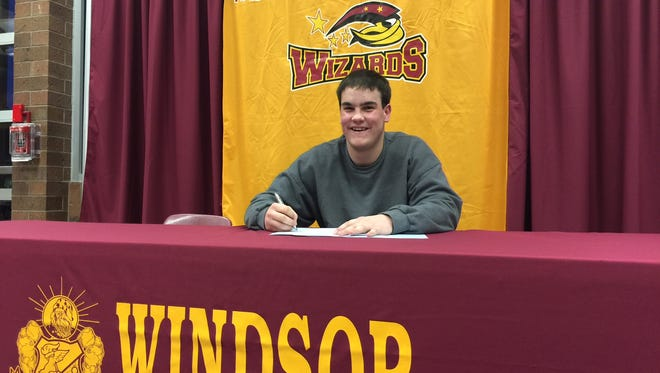 Windsor's Tyler Shubert signed to play baseball at Western Nebraska on Tuesday.