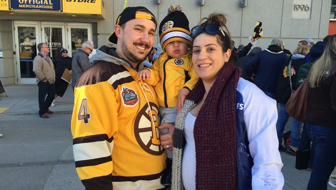 Toronto couple Marc and Gabriella Parravano made a bet over the NHL team loyalty of their son, Christian. Marc won the bet, and now Christian is a Bruins fan. They are visiting Nashville for NHL All-Star weekend.