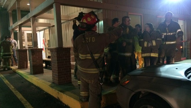 A large gas leak was reported Monday night on Watt Hill Road in Crooksville.