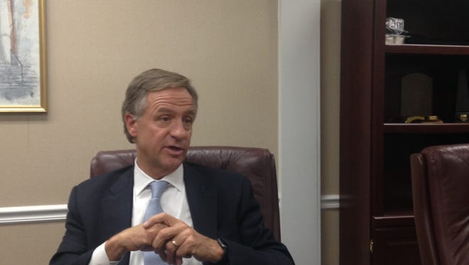 Republican Gov. Bill Haslam met with The Jackson Sun editorial board on Wednesday.