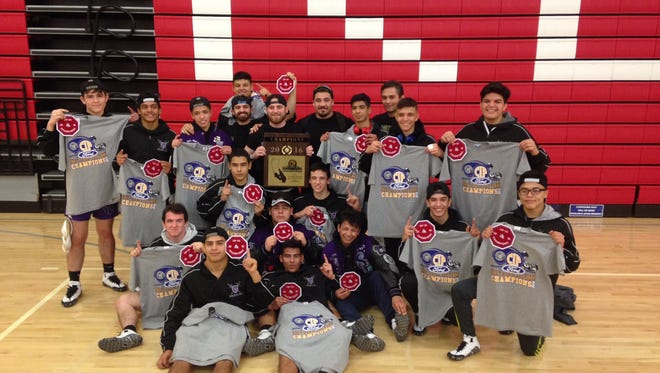 Shadow Hills wrestling team after their win.