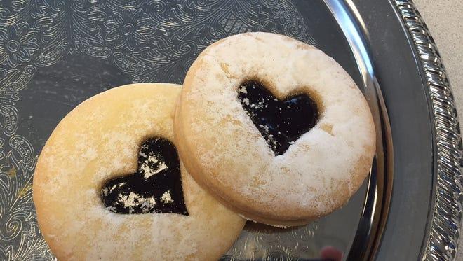 Shortbread heart cookies from Taste of Belgium