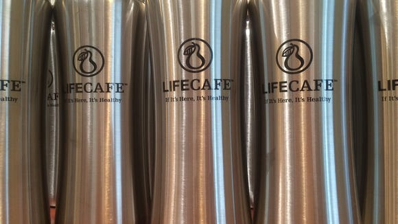 Life Cafe thermoses are available along with a host of coffee and other beverage choices.