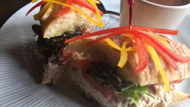 A baguette with tuna Nicoise-style from The French Crust in Downtown.