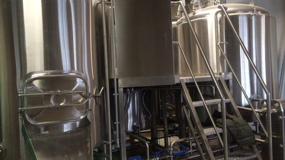 Fermentation tanks stand ready at Tonewood Brewery in Oaklyn.