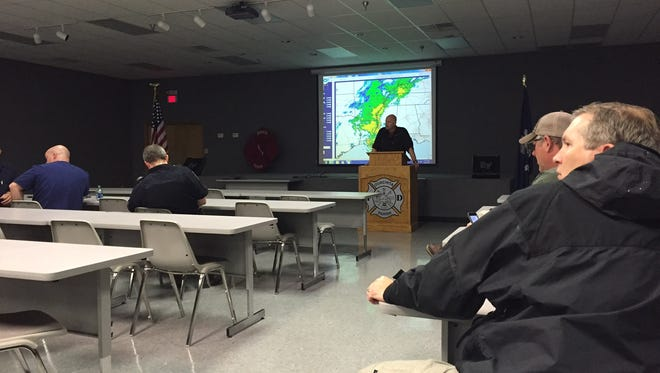 Parish and local officials share updates in EOC meeting Thursday.