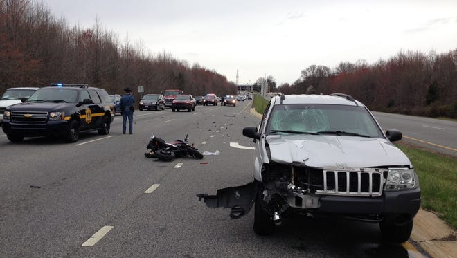 Delaware State Police are investigating a serious motorcycle crash that occurred late Saturday morning in Newark.
