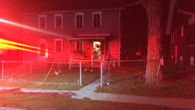 No one was injured in a house fire on Gray Street on Monday night.