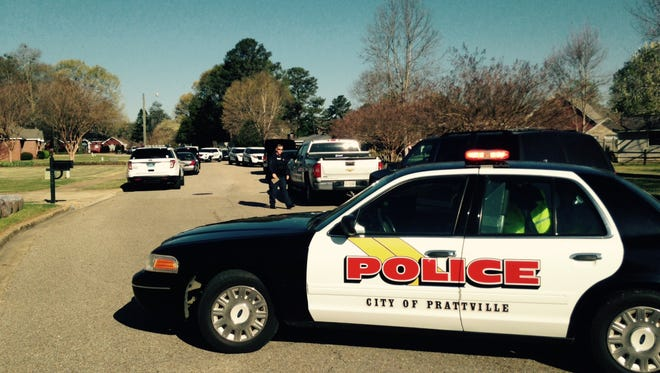 Prattville police blocked off the area surrounding the man's location.