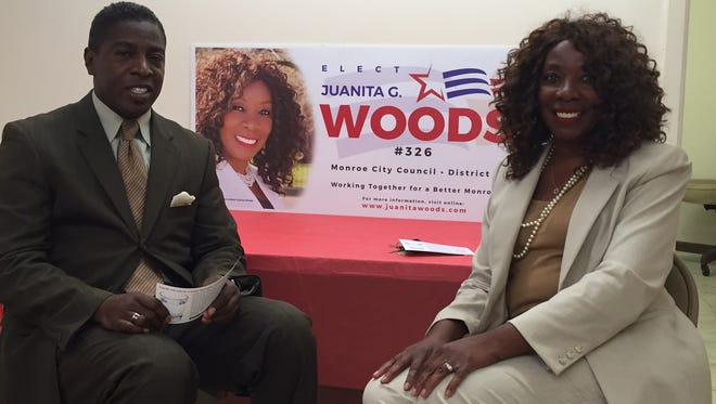 Muhammad (left) has endorsed Juanita Woods in the Monroe City Council District 3 runoff.