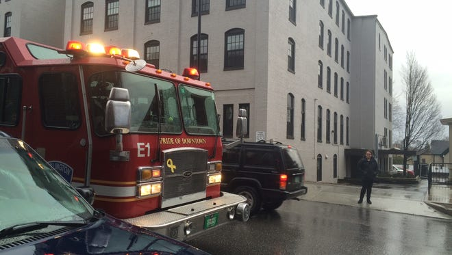 Burlington police and firefighters responded to 101 College St. on Monday following a report of a suicidal person.