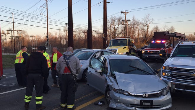 One lane of Del. 141 southbound was closed Tuesday morning due to a multi-vehicle crash.