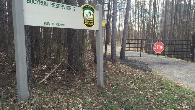 The city of Bucyrus has installed a gate preventing vehicular access to Pine Reservoir off Stetzer Road. The measure was taken to stop people from dumping items near the lake.