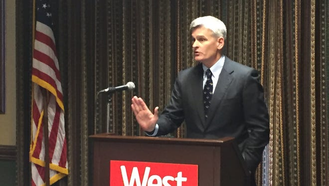U.S. Senator Bill Cassidy discussed flooding and other topics with members of the West Monroe-West Ouachita Chamber of Commerce Thursday.