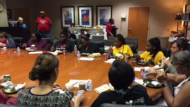 Students at the PACE Center for Girls gathered for a rare luncheon with three black female doctors.