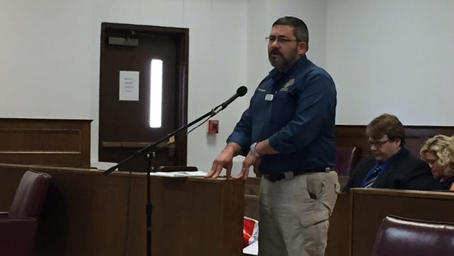 Ouachita Homeland Security & Emergency Preparedness Director Neal Brown requests an emergency declaration extension at Police Jury meeting Monday.